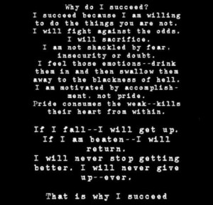 will succeed. You will succeed.
