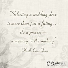 We believe selecting a wedding dress is more than just a fitting, it ...