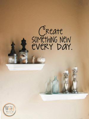 Wall Quote-Inspirational Vinyl Wall Decal, Create Quote, Craft Room ...