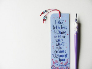 Lucy Maud Montgomery bookmark with quote from Anne of Green Gables in ...