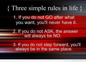 ... Messages, Quotes, Word, Sayings, Message - Three simple rules in life