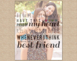 Best Friend Photo Quote, Friend Christmas Gift, Friend Gift // Special ...