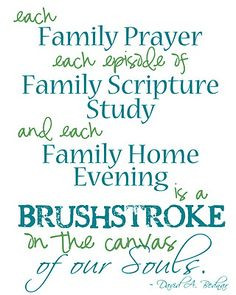 Family Prayer, Family Scriptures, Family Home Evening … 3 most ...