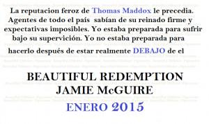 Adelantos exclusivos de Beautiful Redemption de Jamie McGuire!