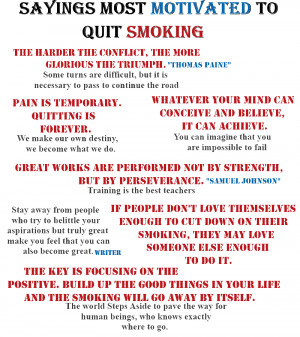 Smoke Quotes - Most Motivated To Quit Smoking