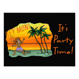 Funny Jamaica Hey Mon Its Party Time Photo Print from Zazzle.