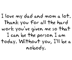 Back > Quotes For > Thank You Mom And Dad Quotes