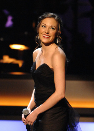 Laura Osnes Actress Laura Osnes performs during the opening night of