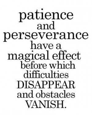 Patience & Perseverance
