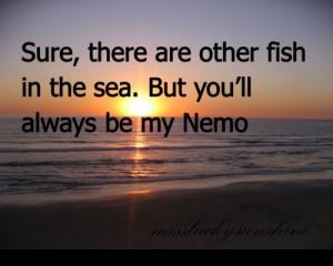 , fish, miss lucky sunshine, missluckysunshine, movie, nemo, quote ...