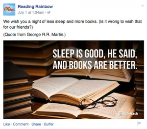 Reading Rainbow shares quotes about reading.
