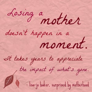 Tag Archives: losing a mom
