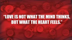 Love Quotes with Red Background HD Wallpaper