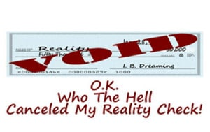 ... the hell canceled my reality check is a funny image of a voided check