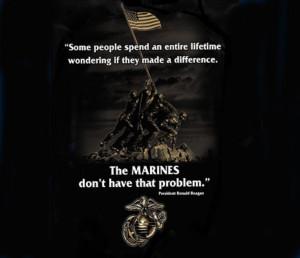 US Marine Corps Ronald Reagan Quote T Shirt USMC Iwo Jima Memorial 3XL