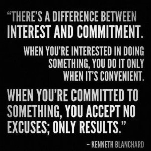 Difference between interest & commitment Kenneth Blanchard