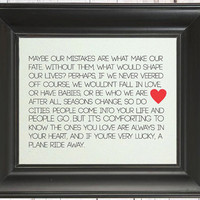The City Quote: Art Print // Best Friend Gift // Great Maid of Honor ...