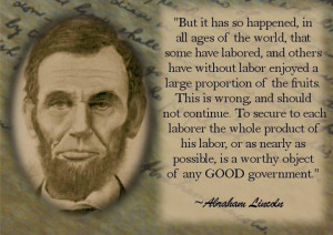 ... assuming his seat in the House of Representatives, Lincoln said this