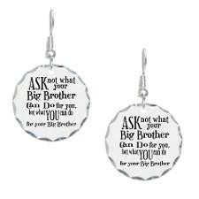 Ask Not Big Brother Earring Circle Charm for