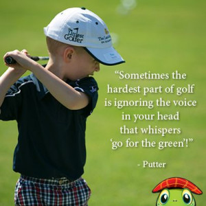 Golf swing! Pee wee golfer doing his best Arnold Palmer move! Quote by ...