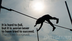 Every failure brings with it the seed of an equivalent success ...