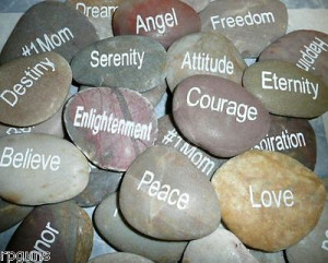Engraved River Rocks. YOU CHOOSE Sayings Quotes Rock Garden More I-W