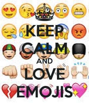Keep Calm and Love Emojis