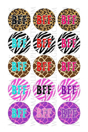 Bottle Cap Images BFF Sayings on Animal Prints Best Friends Forever 1 ...