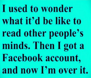 Facebook, just say no
