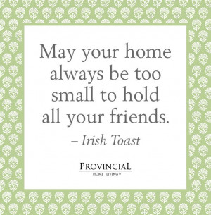 an Irish toast - cute for a house warming card!