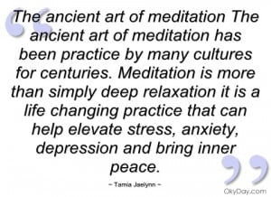 the ancient art of meditation the ancient