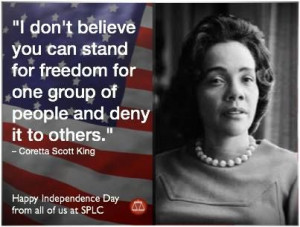 don t believe you can stand for freedom for one group of people and ...