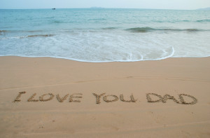 Love You Dad In The Sand Beach