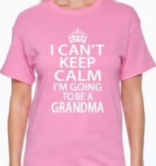 Keep Calm I'm Going To Be a Grandma, grandma to be, gift for grandma ...