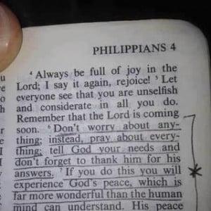 Here's a Good recipe for a Healthy Marriage...Worry Less and Pray More ...