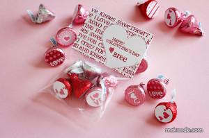 Valentine's Hershey Kisses Labels