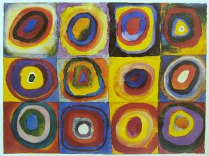Farbstudie Quadrate, 1913 by Wassily Kandinsky