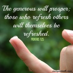 ... bless others, we are crazily and beautifully blessed! Proverbs 11:25