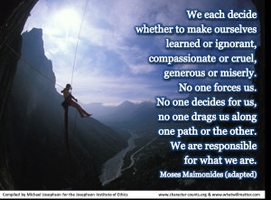 Post image for QUOTE: We each decide whether to make ourselves learned ...