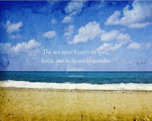 Inspirational Quotes Beach Ocean Pic