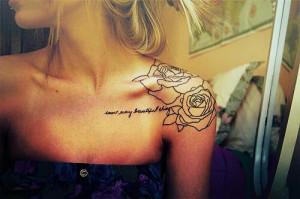 Shoulder tattoos women12107