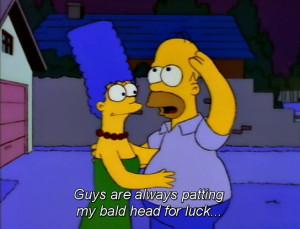 punch the simpsons homer simpson marge simpson Season 4 Lenny Bald ...