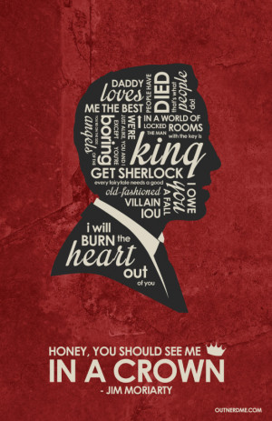 BBC Jim Moriarty Inspired Quote Poster by outnerdme