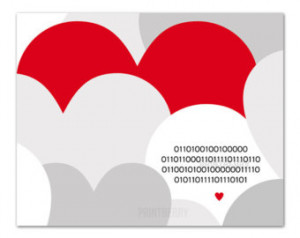 Geek love Binary Love Printable love quote Love print Valentines day ...
