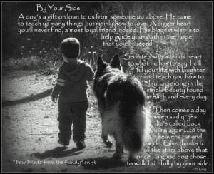 By Your Side. | ;; Animal quotes and poems. | Pinterest