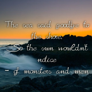 Of monsters and men quote