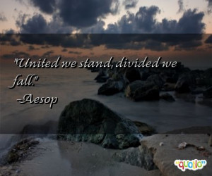 United we stand , divided we fall .