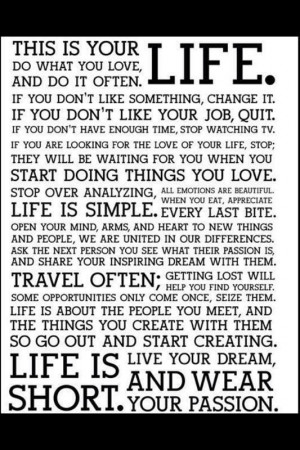 live your life with passion