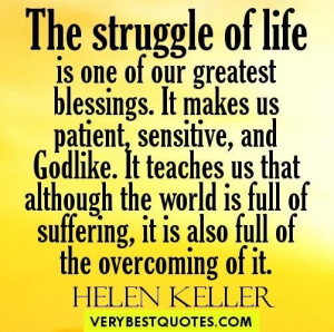 Overcoming obstacles quotes the struggle of life