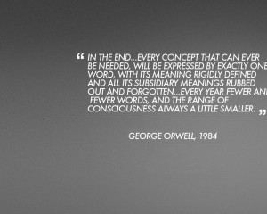minimalistic text quotes 1984 george orwell grey background 1920x1200 ...